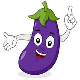 Happy Eggplant Character Smiling Royalty Free Stock Image