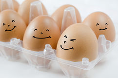 Happy eggs Royalty Free Stock Photo