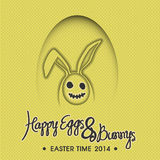 Happy Eggs & Bunnys illustration Stock Photography