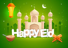 Happy Eid wallpaper background Royalty Free Stock Photo