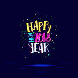 Happy eighteenth New Year Royalty Free Stock Photography