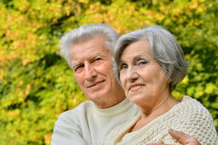 Happy elder couple Royalty Free Stock Photos