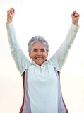 Happy elder woman Royalty Free Stock Photo