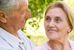 Happy elderly couple royalty free stock image