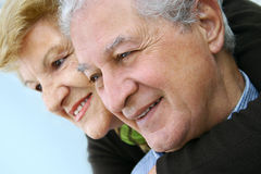 Happy elderly couple royalty free stock images