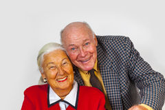 Happy elderly couple enjoy life Stock Images