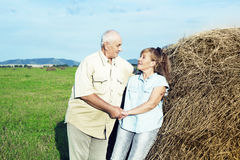 Happy elderly couple outdoor Stock Photo
