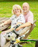 Happy elderly couple relaxing Royalty Free Stock Image