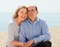 Happy elderly couple spends time Royalty Free Stock Photos