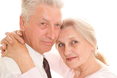 Happy elderly couple together Royalty Free Stock Photos