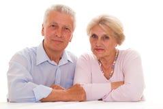 Happy elderly couple together Stock Photos