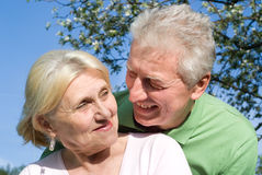 Happy elderly couple together Royalty Free Stock Photography