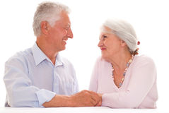 Happy elderly couple together Stock Images