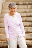 Happy elderly lady Royalty Free Stock Images