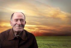 The happy elderly man Royalty Free Stock Image