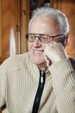 Happy elderly man Stock Photos