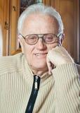 Happy elderly man. Real portrait of happy elderly man royalty free stock image