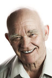 Happy elderly man. Isolated on white background royalty free stock image