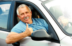 Happy elderly man Royalty Free Stock Image