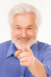 Happy elderly man with beard Stock Photos