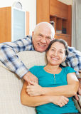 Happy elderly man with beloved wife Stock Photos