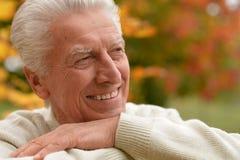 Elderly man in park Royalty Free Stock Photo