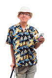 Happy elderly man with money Stock Photography