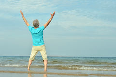 Happy elderly man stock image