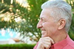 Happy elderly man Stock Images