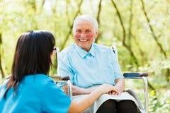 Happy Elderly Patient Stock Images