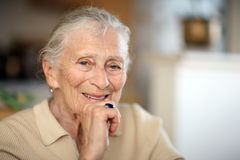 Happy elderly senior Royalty Free Stock Photography