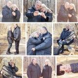 Happy Elderly Senior Romantic Couple Royalty Free Stock Image