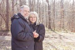 Happy Elderly Senior Romantic Couple Stock Images
