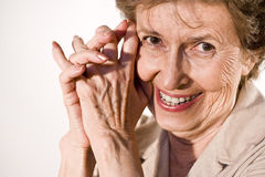 Happy elderly woman Royalty Free Stock Photography