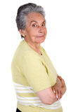 Happy elderly woman Royalty Free Stock Photos