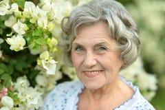 Happy elderly woman Stock Photography