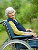 Happy elderly woman Royalty Free Stock Photo