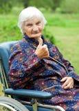 Happy elderly woman Royalty Free Stock Image