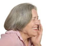Happy elderly woman Stock Image
