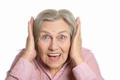 Happy elderly woman Royalty Free Stock Photography