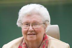 Happy Elderly Woman Outdoors Royalty Free Stock Photos