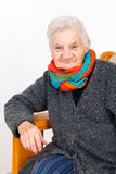 Happy elderly woman on therapy Royalty Free Stock Photography