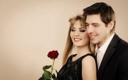 Happy elegant couple lovers. Stock Photo