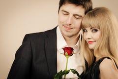 Happy elegant couple lovers. Stock Photography