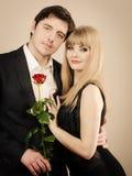 Happy elegant couple lovers. Royalty Free Stock Photo