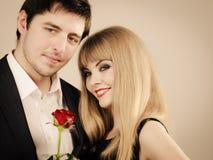 Happy elegant couple lovers. Royalty Free Stock Image
