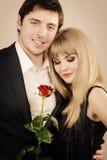 Happy elegant couple lovers. Royalty Free Stock Photography