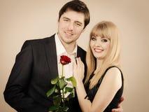 Happy elegant couple lovers. Stock Image