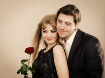Happy elegant couple lovers. Royalty Free Stock Images