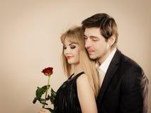 Happy elegant couple lovers. Royalty Free Stock Photos